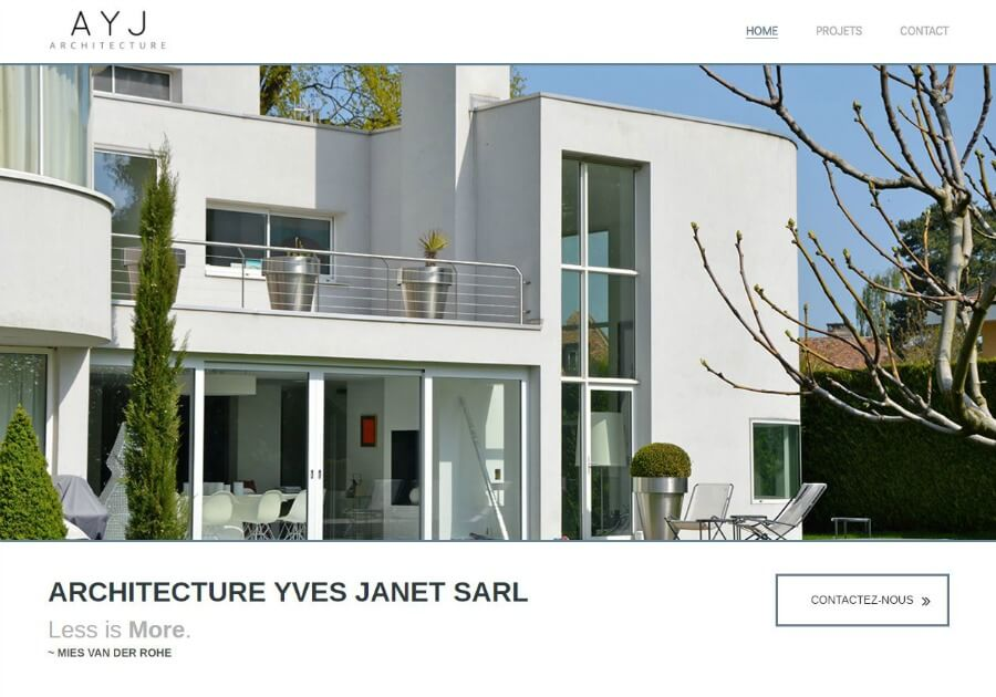 Yves Janet Architect website portfolio screen shot