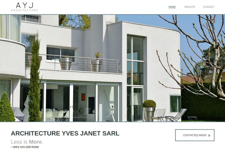 Yves Janet Architect website portfolio screen shot