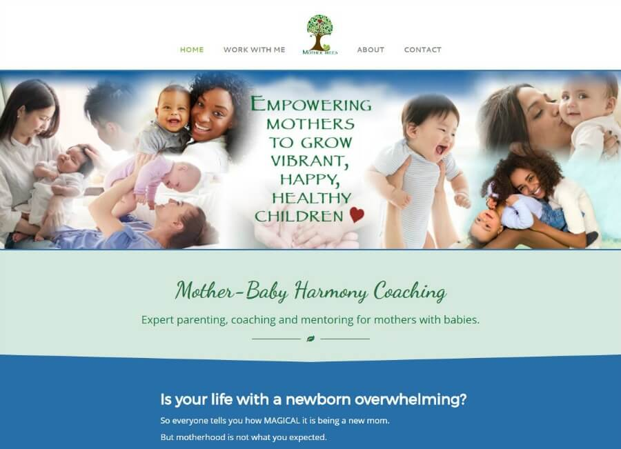 Mother Trees website portfolio screen shot