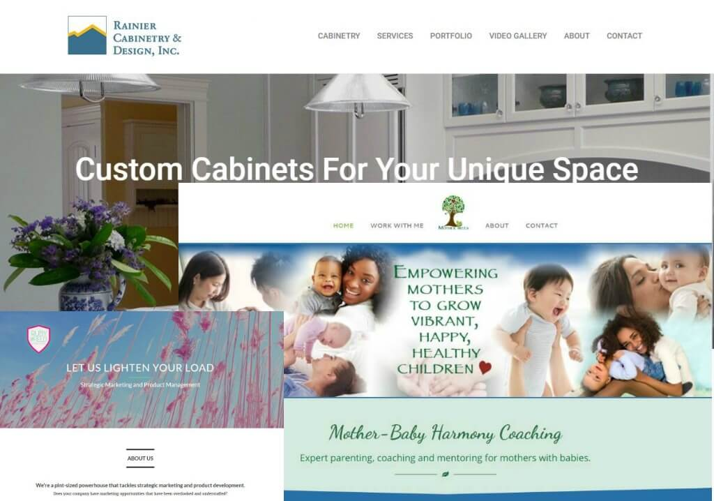 custom WordPress themes Christina Petrie
