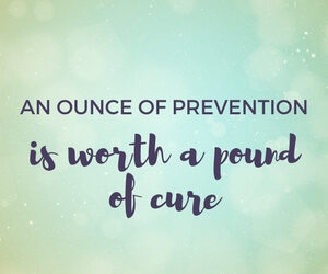 An ounce of prevention is worth a pound of cure blog image