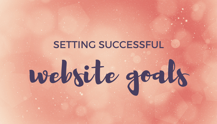 setting successful website goals header