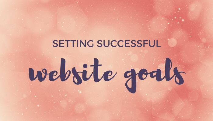 setting successful website goals header