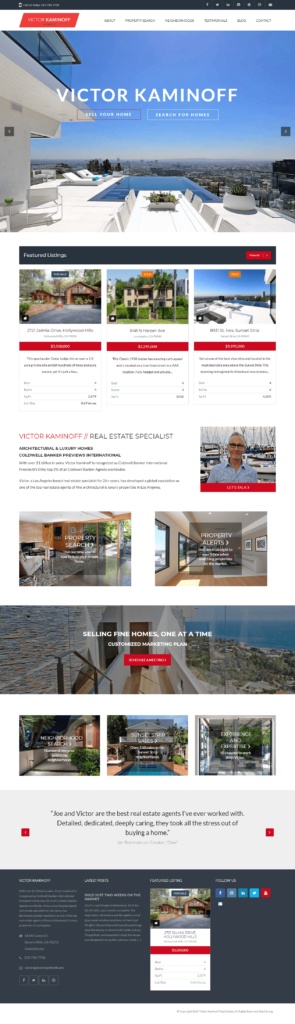 Victor Kaminoff real estate agent website
