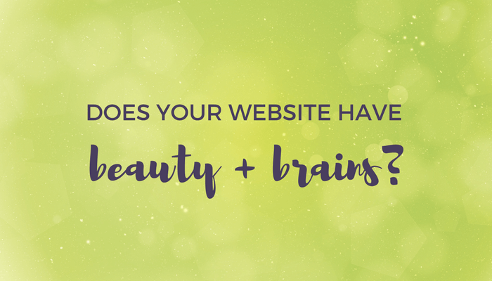 does your website have beauty and brains header