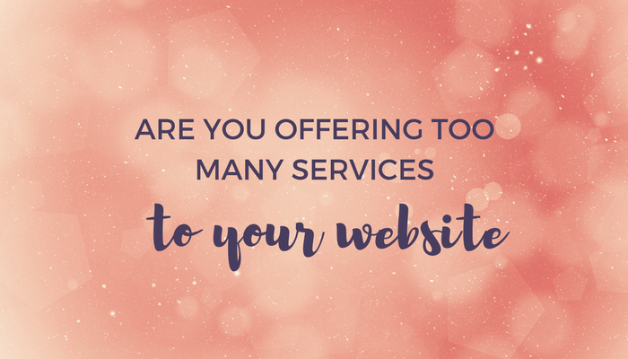 Are you offering too many services on your website header image