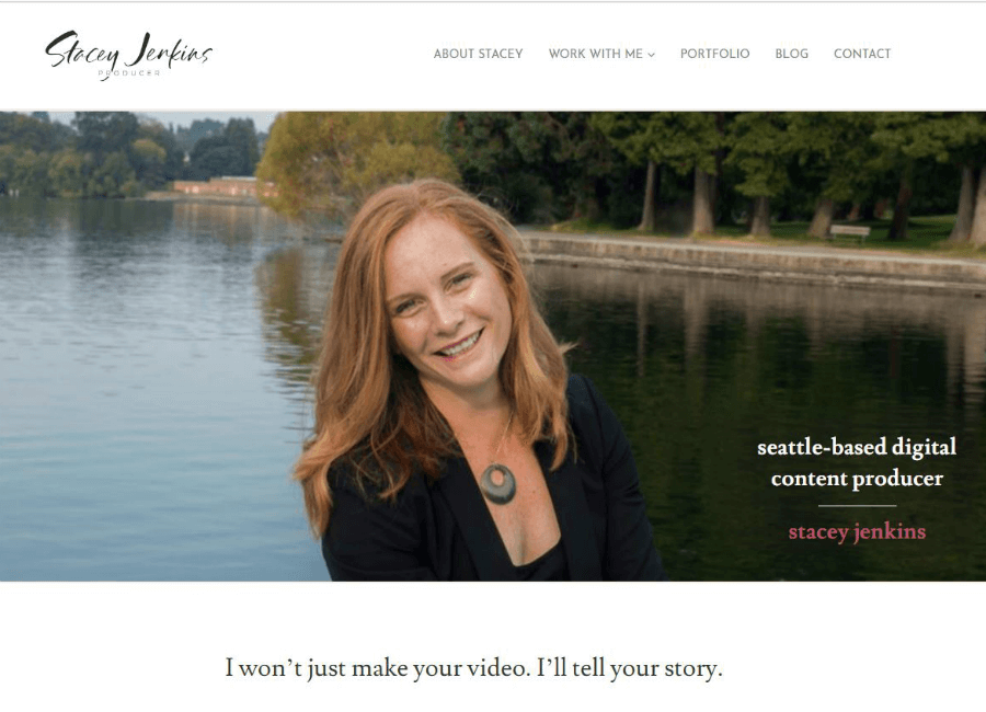 Stacey Jenkins Digital Content Producer website home page