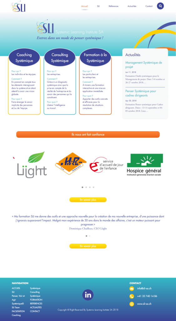 Systemic Learning Institute home page