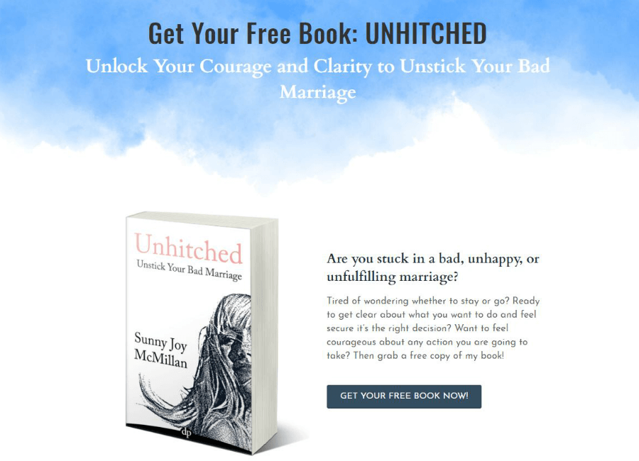 unhitched book by Sunny McMillan home page
