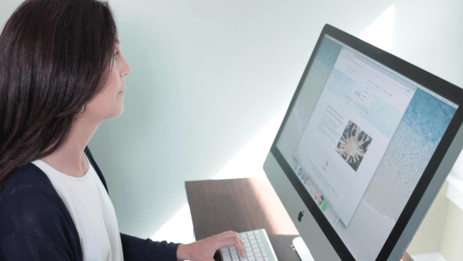 Christina Petrie Web Designer creating a website