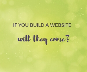 If you build a website, will they come