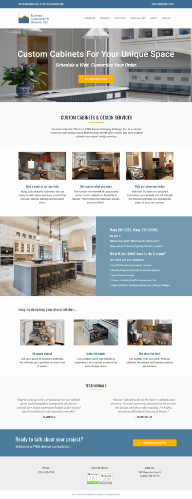 Rainier-Cabinetry-Design-website-home-page