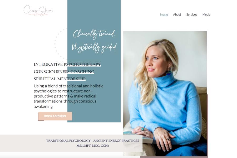 Casey Stevens website home page